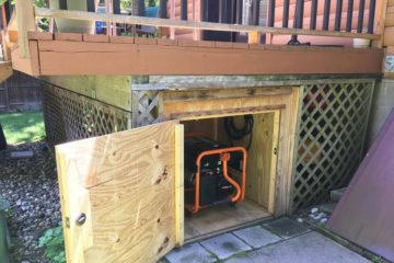 can you put generator under deck